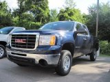 2009 Midnight Blue Metallic GMC Sierra 2500HD Work Truck Extended Cab 4x4 #17416348
