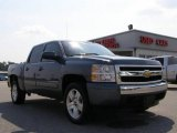 2008 Blue Granite Metallic Chevrolet Silverado 1500 LT Crew Cab #17499999