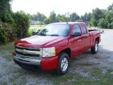 2009 Victory Red Chevrolet Silverado 1500 LT Extended Cab 4x4 #17548213