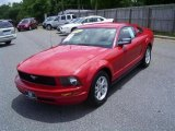 2007 Torch Red Ford Mustang V6 Deluxe Coupe #17548030