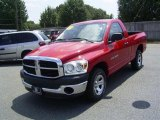 2007 Flame Red Dodge Ram 1500 ST Regular Cab #17548038