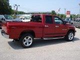 2007 Inferno Red Crystal Pearl Dodge Ram 1500 Big Horn Edition Quad Cab 4x4 #17547878