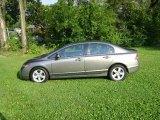 2007 Galaxy Gray Metallic Honda Civic EX Sedan #17547840