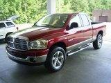 2008 Inferno Red Crystal Pearl Dodge Ram 1500 Big Horn Edition Quad Cab 4x4 #17548109