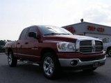 2007 Inferno Red Crystal Pearl Dodge Ram 1500 Big Horn Edition Quad Cab #17585168