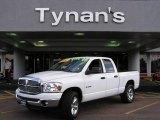 2008 Bright White Dodge Ram 1500 Big Horn Edition Quad Cab 4x4 #17582422