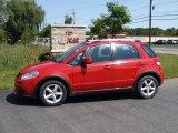 2007 Bright Red Suzuki SX4 Sport AWD #17631533