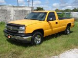 2003 Wheatland Yellow Chevrolet Silverado 1500 LS Regular Cab 4x4 #17634451