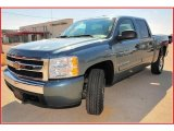 2008 Blue Granite Metallic Chevrolet Silverado 1500 LT Crew Cab #17630170