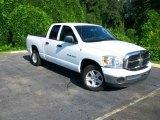 2007 Bright White Dodge Ram 1500 SLT Quad Cab #17628646