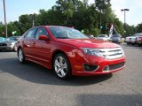 2010 Sangria Red Metallic Ford Fusion Sport #17628064