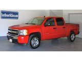 2009 Victory Red Chevrolet Silverado 1500 LT Crew Cab 4x4 #17635190