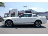 2006 Performance White Ford Mustang V6 Deluxe Coupe #17632009