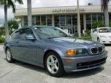 2002 Steel Blue Metallic BMW 3 Series 325i Coupe #17685509
