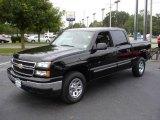 2006 Black Chevrolet Silverado 1500 LS Crew Cab 4x4 #17686089
