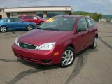 2005 Sangria Red Metallic Ford Focus ZX3 SE Coupe #17692210