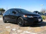 2007 Nighthawk Black Pearl Honda Civic LX Sedan #1772318