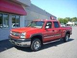 2003 Victory Red Chevrolet Silverado 2500HD LT Crew Cab 4x4 #17748128