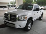2007 Bright White Dodge Ram 3500 Laramie Quad Cab 4x4 #17741435
