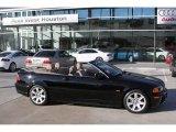 2001 Jet Black BMW 3 Series 325i Convertible #1771526