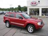 2006 Inferno Red Crystal Pearl Jeep Grand Cherokee Limited 4x4 #17744574