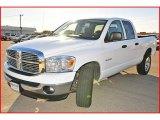 2008 Bright White Dodge Ram 1500 SLT Quad Cab #1771264