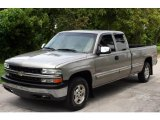 2000 Light Pewter Metallic Chevrolet Silverado 1500 LS Extended Cab 4x4 #17835016