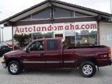 2000 Dark Carmine Red Metallic Chevrolet Silverado 1500 LS Extended Cab 4x4 #17836417