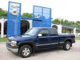 2002 Indigo Blue Metallic Chevrolet Silverado 1500 LS Extended Cab 4x4 #17830612