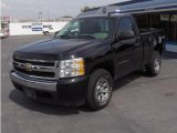 2008 Black Chevrolet Silverado 1500 LS Regular Cab 4x4 #17828829