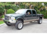 2004 Dark Green Satin Metallic Ford F250 Super Duty Lariat Crew Cab 4x4 #17835019