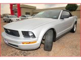2007 Satin Silver Metallic Ford Mustang V6 Deluxe Convertible #17835727