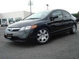2007 Nighthawk Black Pearl Honda Civic LX Sedan #17832995