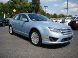 2010 Light Ice Blue Metallic Ford Fusion Hybrid #17894564