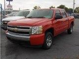 2008 Victory Red Chevrolet Silverado 1500 LS Crew Cab #17956278