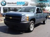 2008 Blue Granite Metallic Chevrolet Silverado 1500 Work Truck Extended Cab #17955048