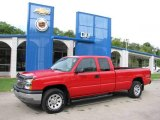 2005 Victory Red Chevrolet Silverado 1500 Extended Cab 4x4 #17958037