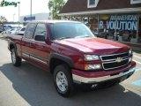 2006 Sport Red Metallic Chevrolet Silverado 1500 Z71 Extended Cab 4x4 #17962827
