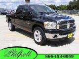2007 Brilliant Black Crystal Pearl Dodge Ram 1500 Big Horn Edition Quad Cab #17963398