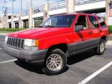 1996 Flame Red Jeep Grand Cherokee Laredo 4x4 #17967409