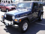 Midnight Blue Pearl Jeep Wrangler in 2006