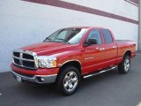 2005 Flame Red Dodge Ram 1500 SLT Quad Cab 4x4 #17969589