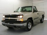 2004 Silver Birch Metallic Chevrolet Silverado 1500 LS Regular Cab 4x4 #18038358