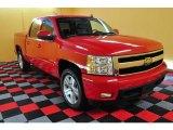 2007 Victory Red Chevrolet Silverado 1500 LTZ Crew Cab 4x4 #18035631