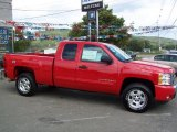 2009 Victory Red Chevrolet Silverado 1500 LT Extended Cab 4x4 #18024051