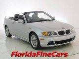 2004 Titanium Silver Metallic BMW 3 Series 325i Convertible #18100231