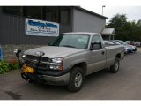 2004 Silver Birch Metallic Chevrolet Silverado 1500 Regular Cab 4x4 #18104455