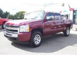 2009 Deep Ruby Red Metallic Chevrolet Silverado 1500 LS Crew Cab 4x4 #18097158