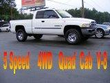 2001 Bright White Dodge Ram 1500 ST Club Cab 4x4 #18103550