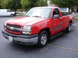 2004 Victory Red Chevrolet Silverado 1500 LS Regular Cab #18154171